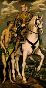 St. Martin & the Beggar, El Greco