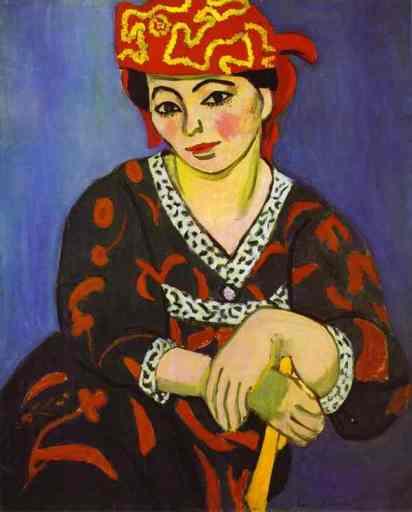 Henri Matisse. Madame Matisse: madras rouge. 1907.