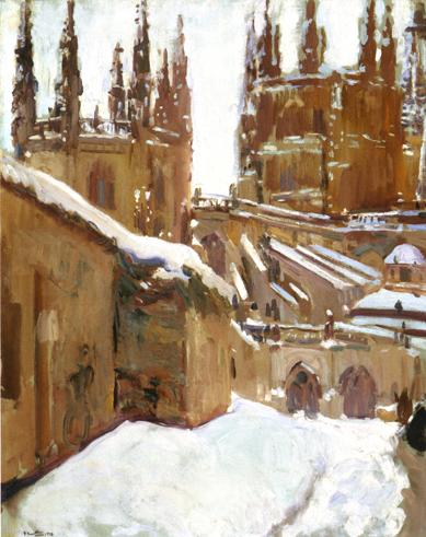 sorollae28094la-catedral-de-burgos-nevada-1910