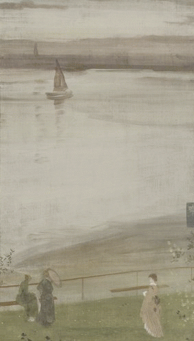 Whistler—Variations in Violet & Green, 1871