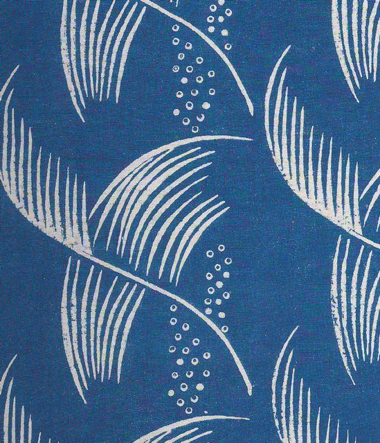 block printed linen  1930s
