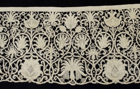 Punta in Aria lace panel, 1620