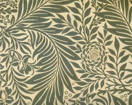 Wm Morris—Larkspur wallpaper, 1872