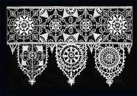 Pattern for Reticella Lace from pattern book of Cesare Vecellio, 1591