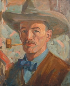 Allen Tupper True, Self Portrait