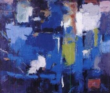 Alma Thomas—Blue Abstraction 1961