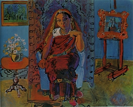 Raoul Dufy—Interior with A Hindu Girl, 1930, Royal Museum Copenhagen