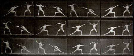 Muybridge Fencing 1887