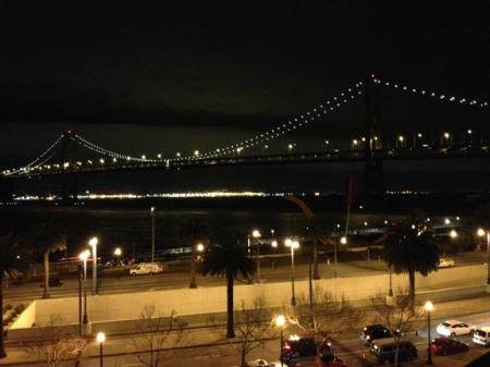 Bay Lights—The Bay Bridge unadorned  ©Liz Hager 2013