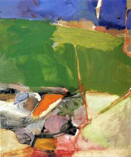 Richard Diebenkorn, Berkeley #33 , 1954 Oil on paper © The Richard Diebenkorn Foundation