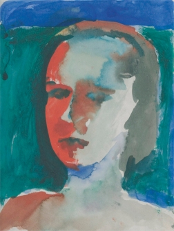Richard Diebenkorn, Untitled, 1957 Gouache on paper © The Richard Diebenkorn Foundation