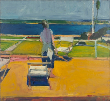 Richard Diebenkorn, Figure on a Porch, 1959 Oil on canvas © 2013 The Richard Diebenkorn Foundation.