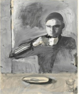 Richard Diebenkorn, The Drinker, 1957 Gouache over graphite Courtesy Yale University Art Gallery