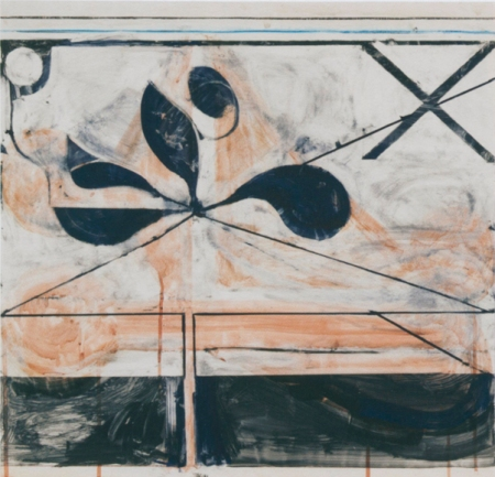 Richard Diebenkorn,Untitled #23,1981 Gouache and crayon on paper © The Richard Diebenkorn Foundation
