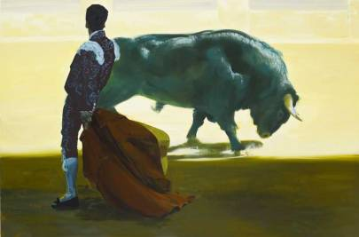 "Eric Fischl, Corrida in Ronda #3, 2008 Oil on canvas, 78 x 120"" © Eric Fischl"