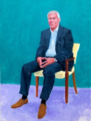 David Hockney, Larry Gagosian,
