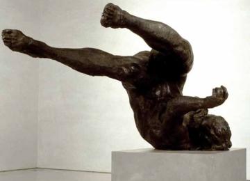 "Eric Fischl—Tumbling Woman, 2002 Bronze. 37 x 74 x 50"""