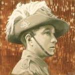 "Liz Hager, The Great War Project: Australian Soldier,Light Horse Brigadeoil on panel, 12x12"" Private Collection ©Liz Hager 2014"